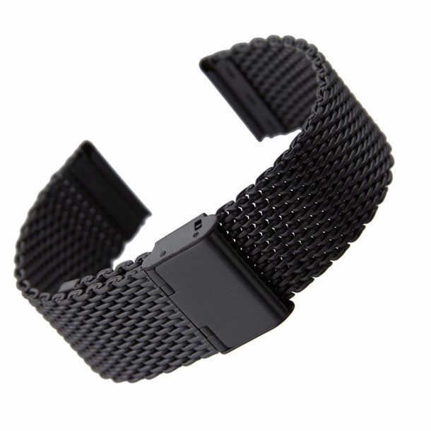 KNITTING STELL STRAP 20MM BLACK