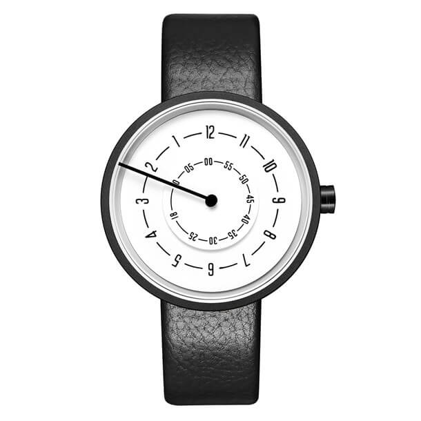 ARROW LINE WHITE LEATHER Watches