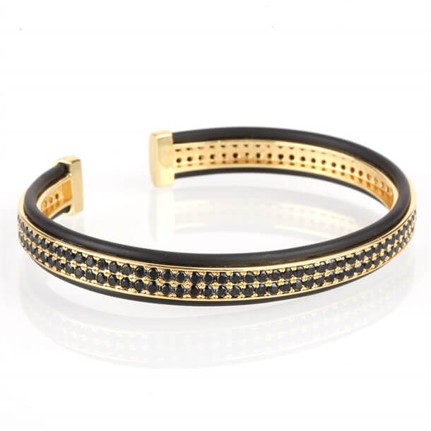 DOUBLE ZIRCON GOLD BRACELET