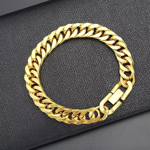 JEFF GOLD BIG CHAIN BANGLE BİLEKLİK