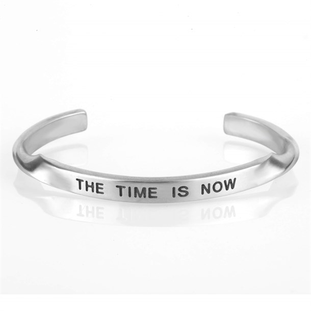 THE TIME IS NOW SILVER BRACELET