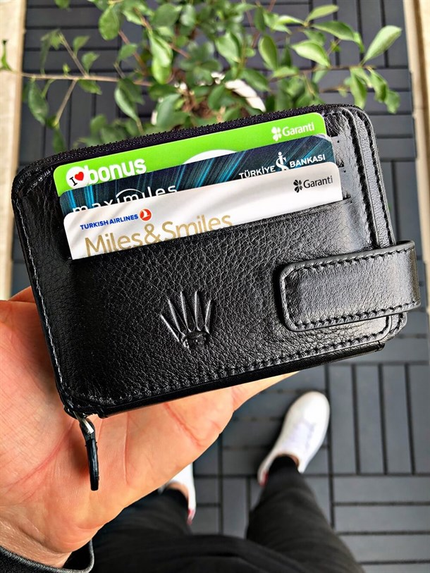 BRAVE BLACK GENUINE LEATHER WALLET