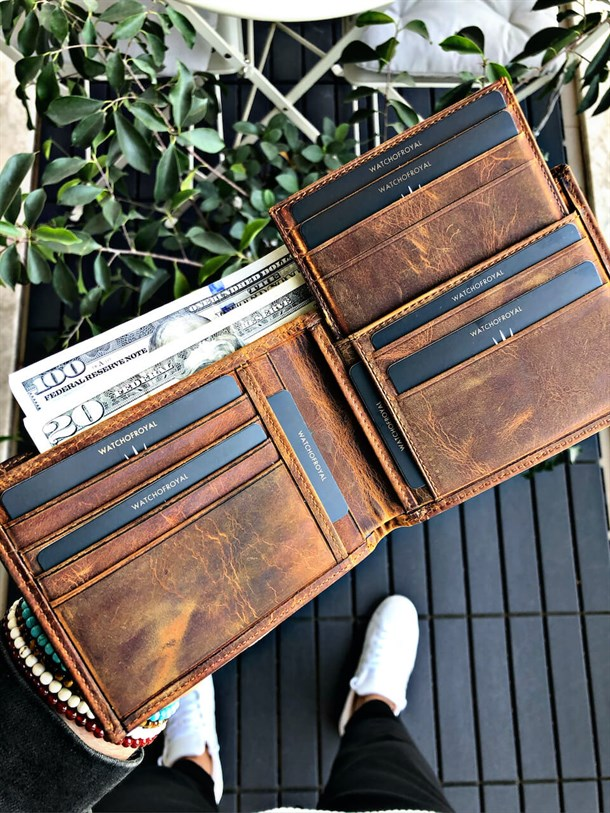 HARRY EFFECT TABA GENUINE LEATHER WALLET +CARD HOLDER