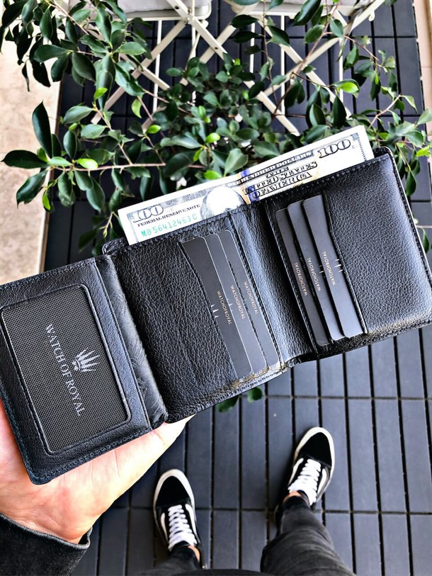 MONREO BLACK GENUINE LEATHER WALLET