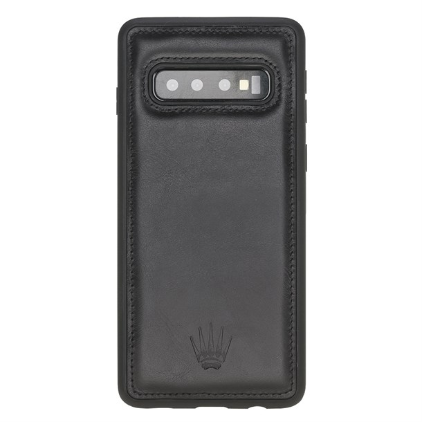 SAMSUNG S10 BLACK LEATHER CASE