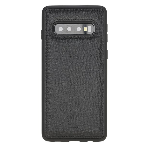 SAMSUNG S10 SAFFIANO BLACK LEATHER CASE