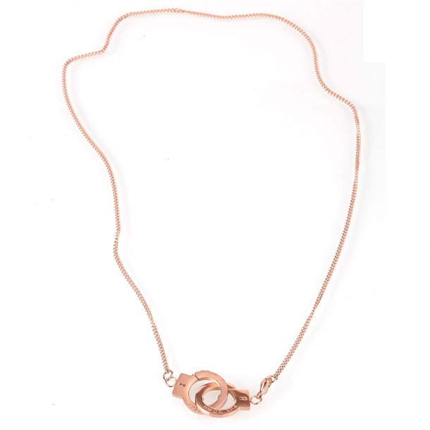 CLAMP CHAIN ROSE GOLD TITANIUM STELL NECKLACE