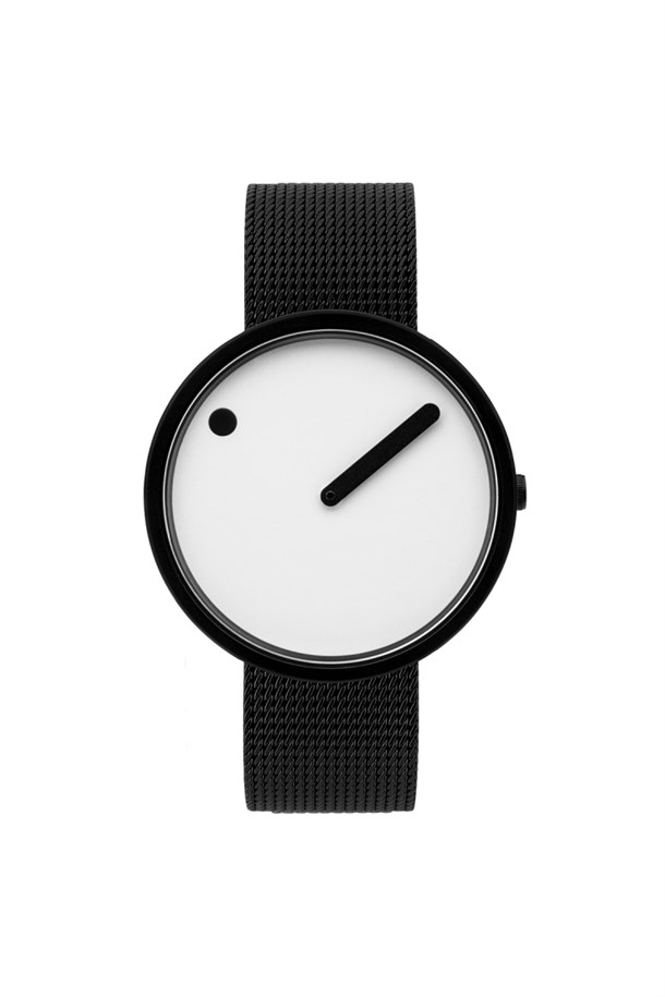 POINT LINE WHITE STEEL MESH Watches