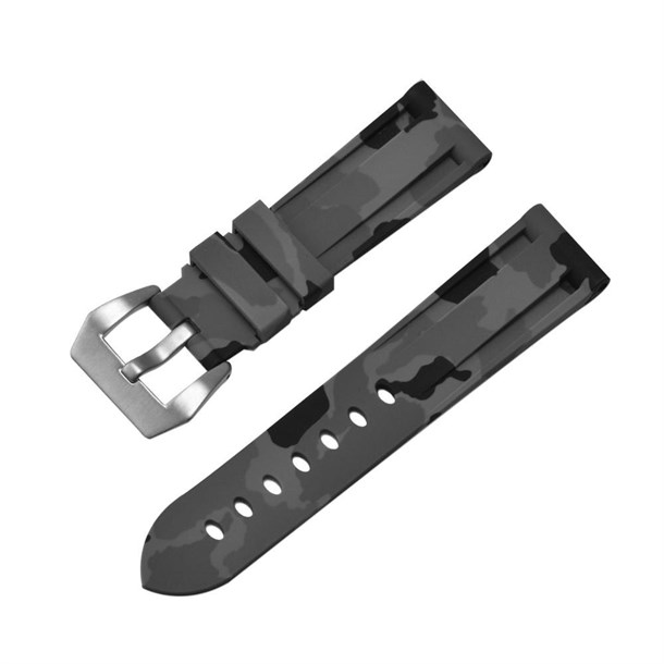 GREY CAMOUFLAGE 22MM SILICON STRAP