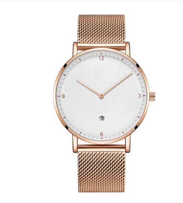 AURORA SLIM ROSE STELL MESH WATCHES
