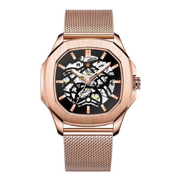 PEERLESS ROSE GOLD STELL MESH  WatchesSaatROYAL WATCHESPRLSROSEMESHPEERLESS ROSE GOLD STELL MESH  Watches