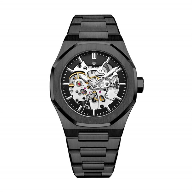 ROYAL CROWN AUTOMATIC BLACK KOL SAATİWATCHESROYAL WATCHESRYLCRWNAUTMCBLCKROYAL CROWN AUTOMATIC BLACK KOL SAATİ