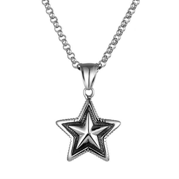 STAR SILVER TITANIUM NECKLACE