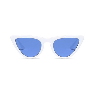 CAT EYE WHITE BLUE SUNGLASSES