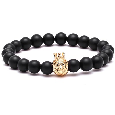 CROWN KING CHARMS GOLD BRACELET