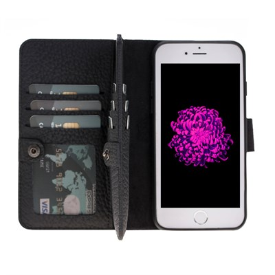 DOUBLE MAGIC WALLET IPHONE 6-7-8 BLACK 2IN1