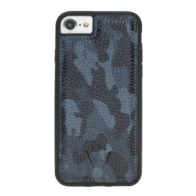 IPHONE 6-7-8  CAMOUFLAGE BLUE LEATHER KILIF