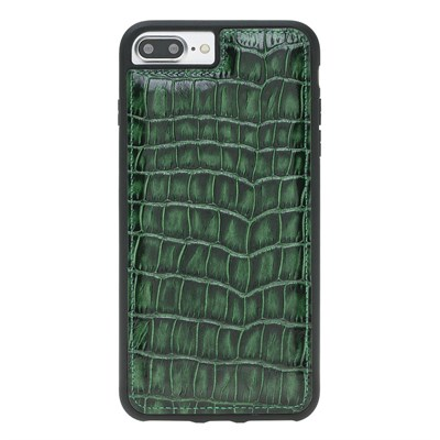 IPHONE 6 PLUS/8 PLUS / 7 PLUS CROCO GREEN LEATHER CASE