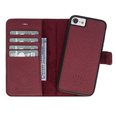 MAGIC WALLET IPHONE 6-7-8 BURGUNDY 2IN1