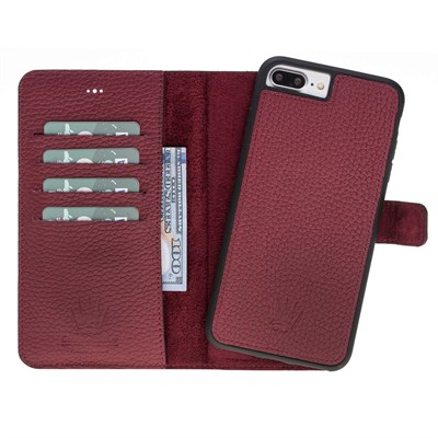 MAGIC WALLET IPHONE 6-7-8 PLUS BURGUNDY 2IN1