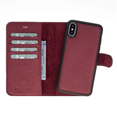 MAGIC WALLET IPHONE X BURGNDY 2IN1