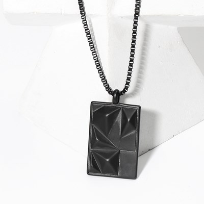 MOUNT OBLONG BLACK TITANIUM NECKLACE