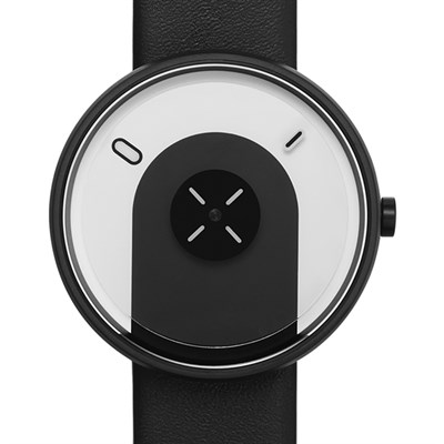 Projects Watches Overlap Black Leather Unisex Kol Saati