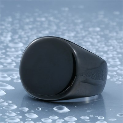 ROUNDNESS BLACK TITANIUM RING