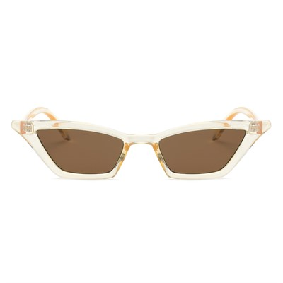SMALL VINTAGE CLEAR BROWN SUNGLASSES