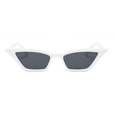 SMALL VINTAGE WHITE BLACK SUNGLASSES