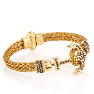 ANCHOR ZIRCON GOLD BİLEKLİK