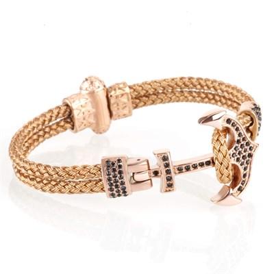ANCHOR ZIRCON ROSE GOLD BRACELET