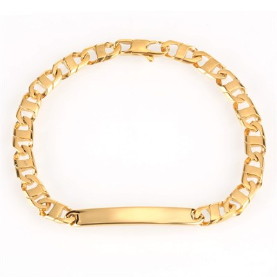 BAR CHARMS TITANYUM GOLD CHAIN BRACELET