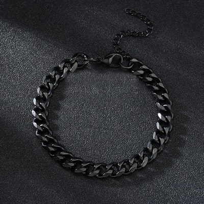 CHAIN BANGLE BLACK 7mm BİLEKLİKBİLEKLİKROYALDESIGNCHNBNGLEBLCK7CHAIN BANGLE BLACK 7mm BİLEKLİK