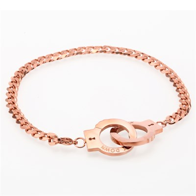 HANDCUFF ROSE GOLD CHAIN BRACELET