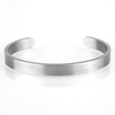 MATT SILVER WIDE OPEN BRACELET