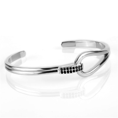 MICRO PAVE STYLE SILVER TITANYUM STELL BRACELET