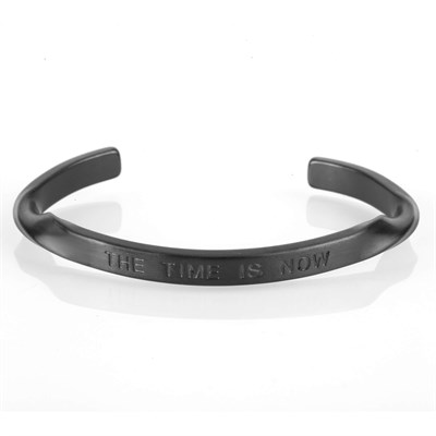 THE TIME IS NOW BLACK BRACELET