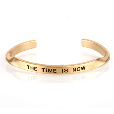 THE TIME IS NOW GOLD BRACELET