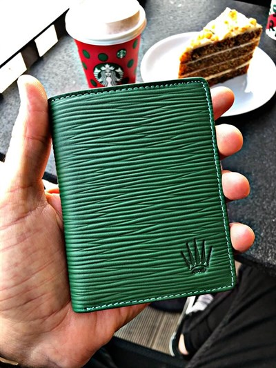 BIFOLD SLIM GREEN WALLET