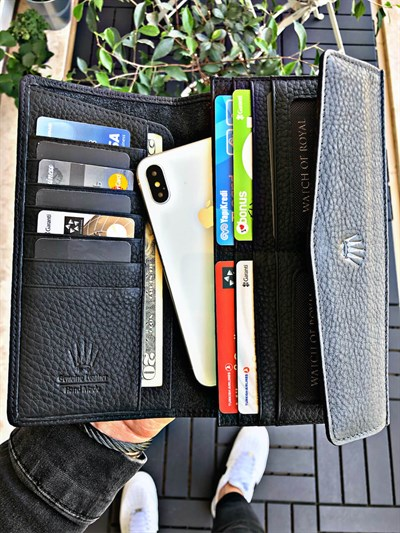 DELUXE BLACK PHONE WALLET