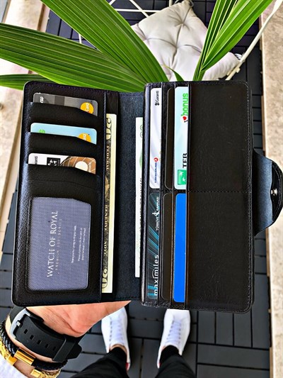 GAIN BLACK GENUINE LEATHER WALLET