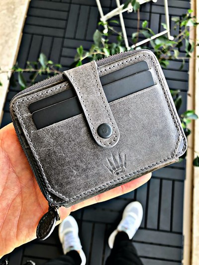 LAGOS GREY GENUINE LEATHER WALLET