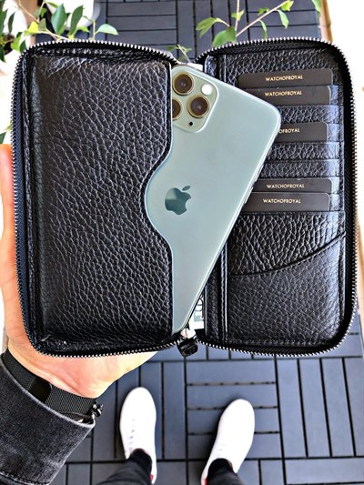 LEON BLACK PHONE WALLET
