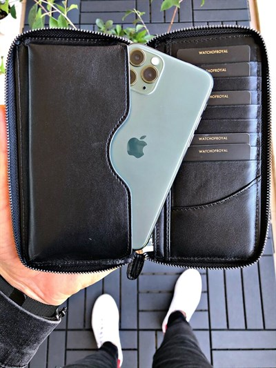 LEON LINE BLACK PHONE WALLET