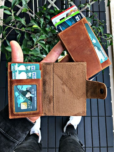 LOSE MAGNETIC TABA MECHANISM GENUINE LEATHER WALLET