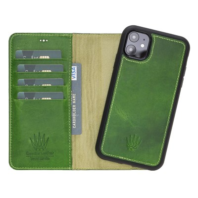 MAGIC WALLET IPHONE 11 GREEN WALLET + CASE