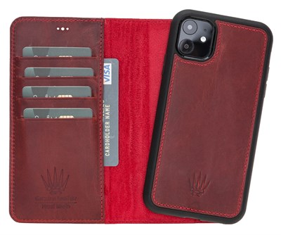 MAGIC WALLET IPHONE 11 BURGUNDY WALLET + CASE