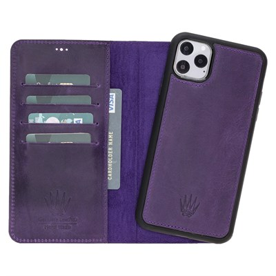 MAGIC WALLET IPHONE 11 PRO MAX MOR CUZDAN + KILIF