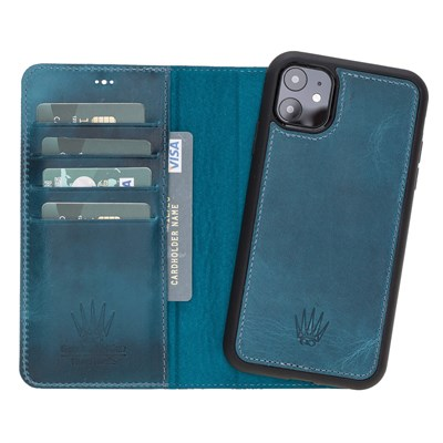 MAGIC WALLET IPHONE 11 TURKUAZ WALLET + CASE
